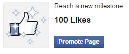100 fans Facebook